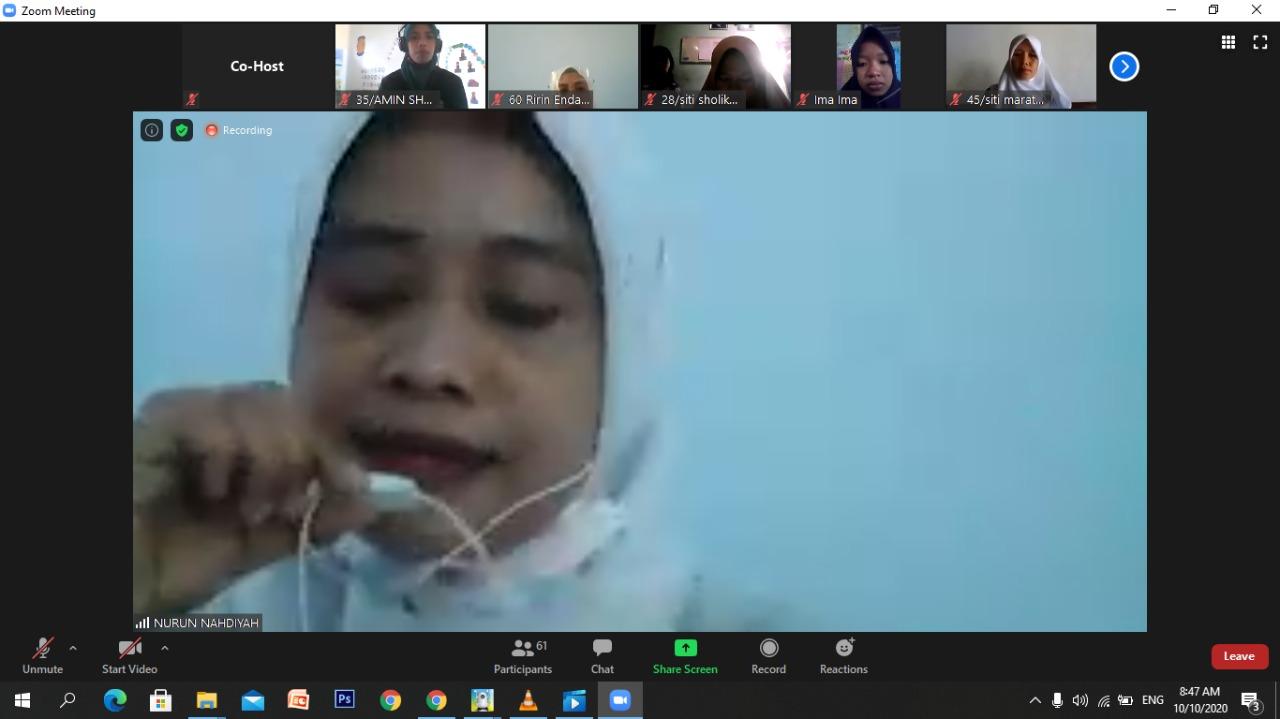 Diklat Da'i- da'iyah PC Fatayat NU Ponorogo Zoom Meet