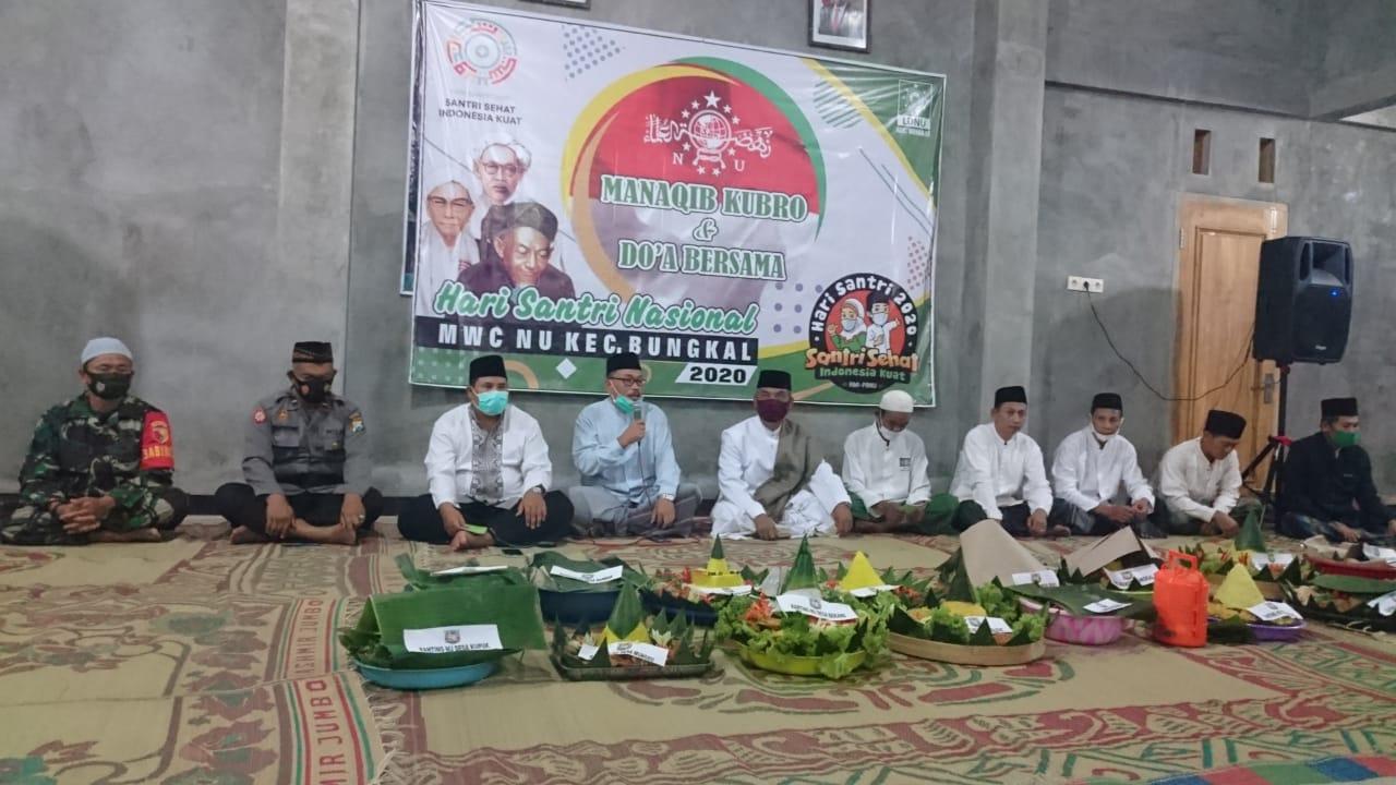 Kenduri dalam rangka Manakib Kubro pada rangkaian HSN MWC NU Bungkal