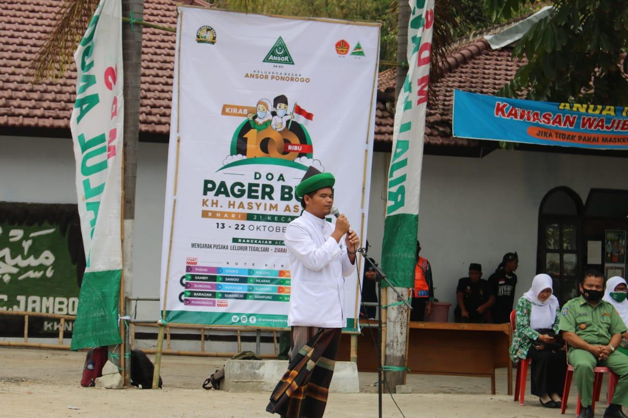 Ketua MWC NU kecamatan Jambon memberi sambutan