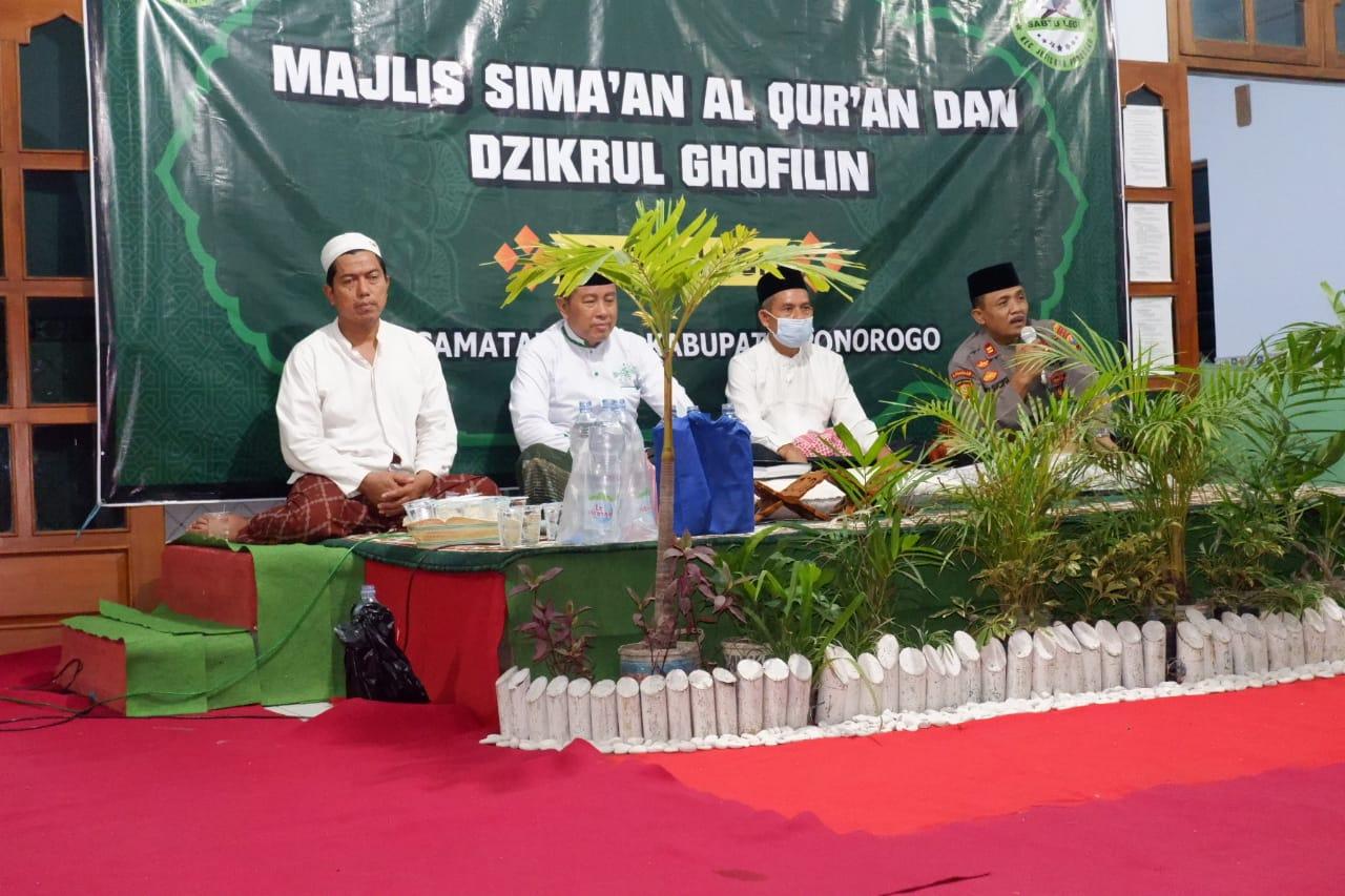 Khotmil Qur'an dihadiri Camat dan Kapolsek Jetis.