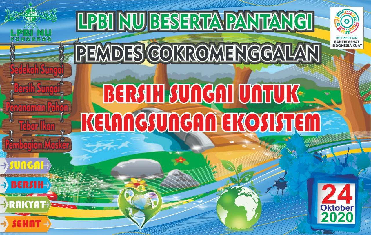 LPBI NU Ajak Warga Deklarasikan DAM Cokromenggalan Bebas Sampah
