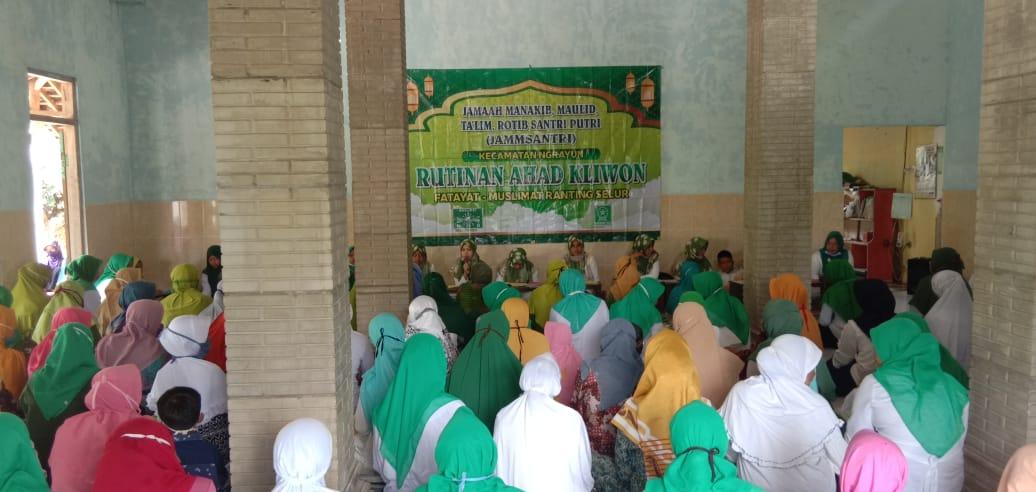 Kegiatan Jammsantri yang digelar Muslimat NU dan Fatayat NU Selur Ngrayun (15-11)