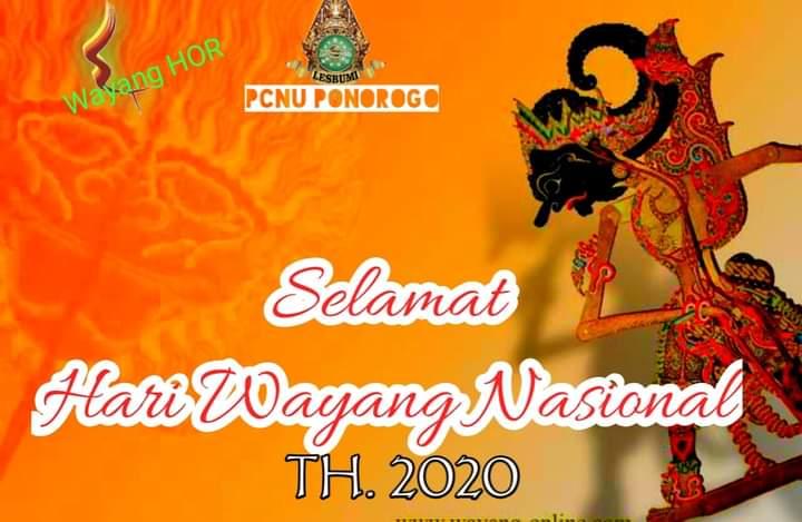Selamat Hari Wayang Nasional 2020