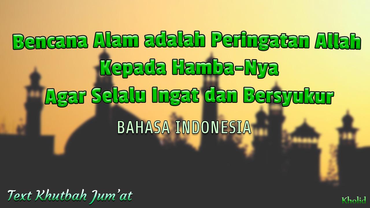 Teks Khutbah Jumat Bahasa Indonesia