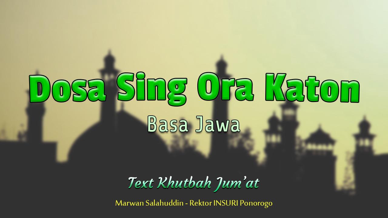 Khutbah Jum'at NU Basa Jawa