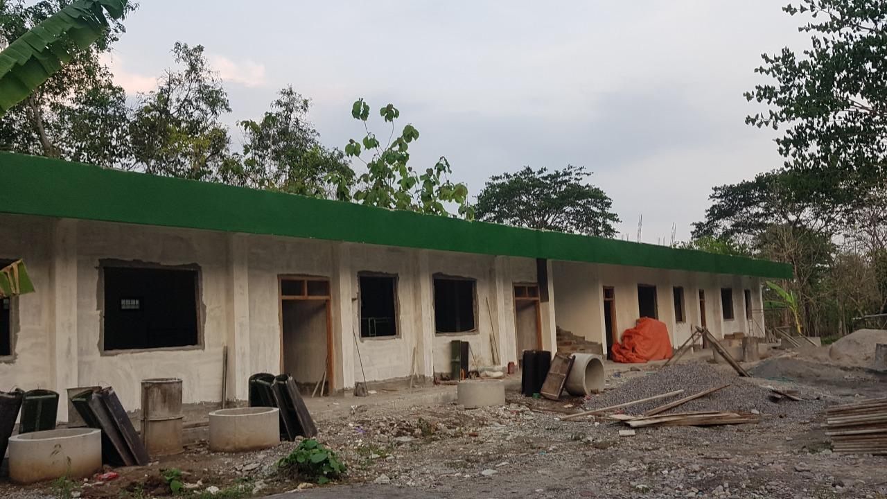Kondisi bangunan Ponpes yang masih membutuhkan uluran tangan para donatur