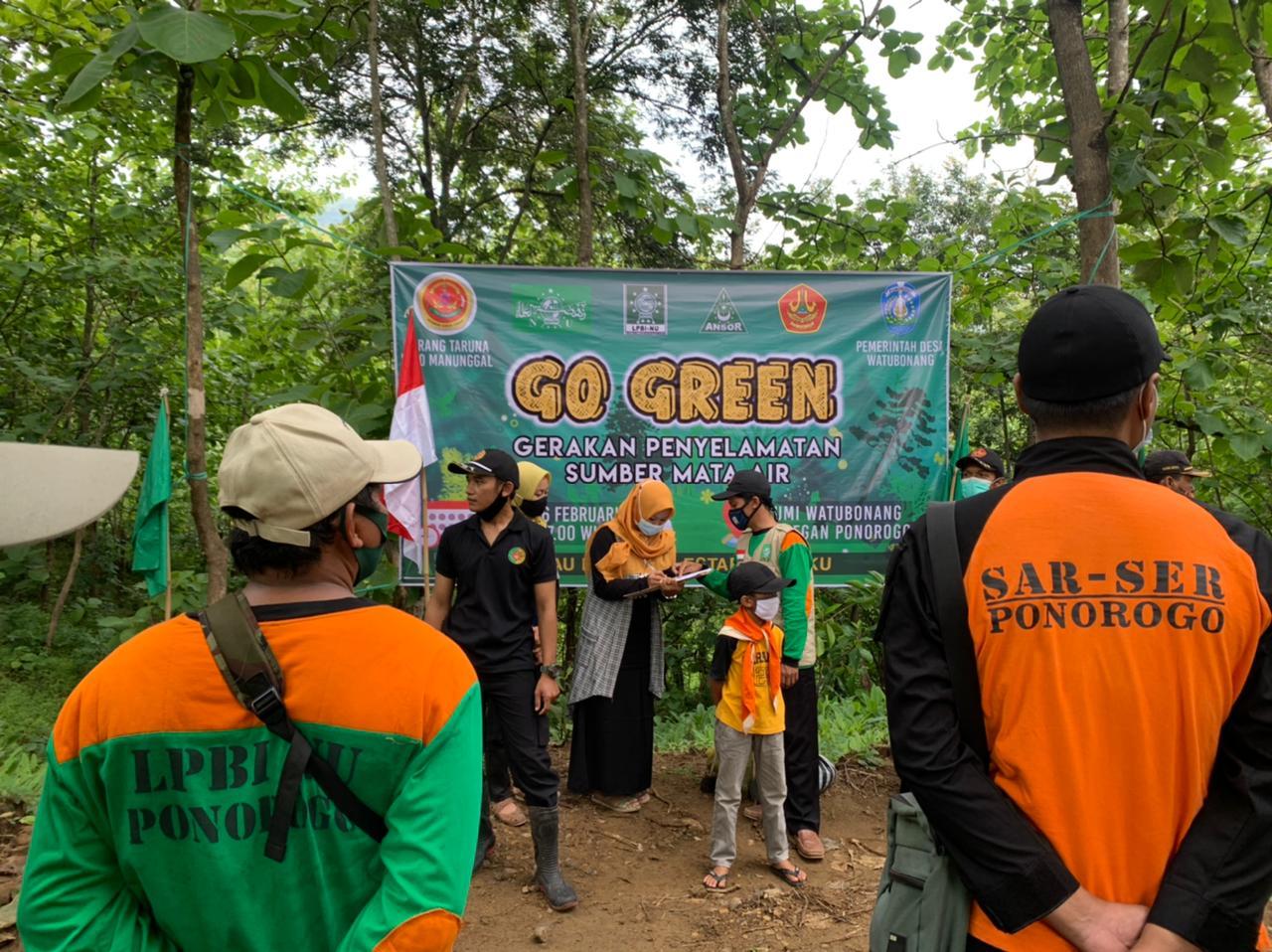 LPBINU gelar Gerakan Penyelamatan Sumber Mata Air di Watu Bonang Kec.Badegan
