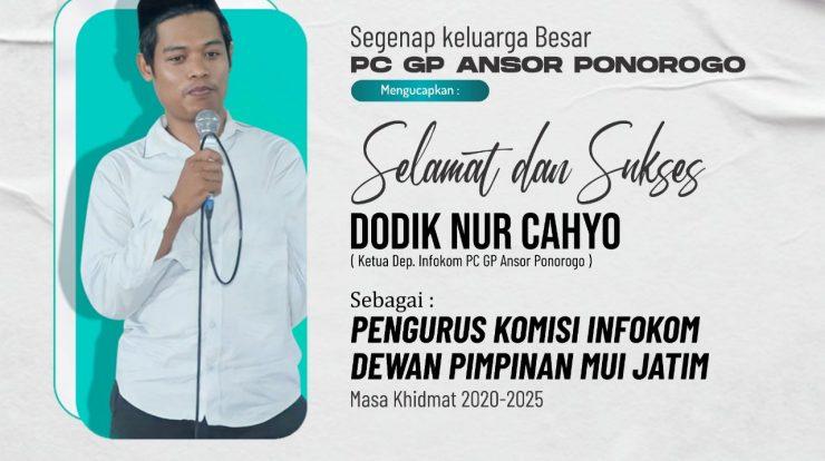 Selamat Pak Dhe Dodik Masuk Jajaran Pengurus Komisi Infokom MUI Jawa Timur