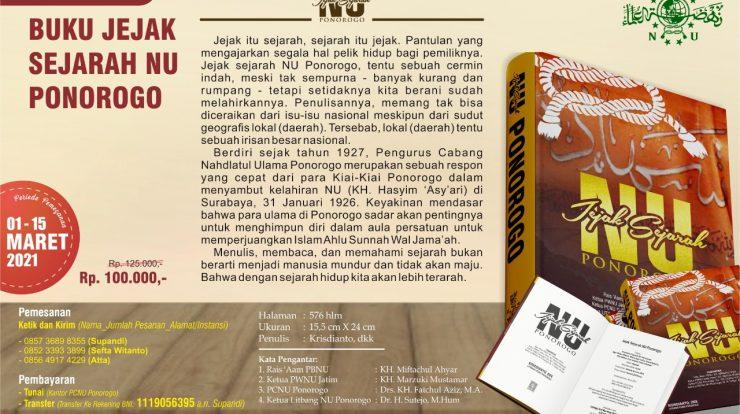 Open Order Buku JEJAK SEJARAH NU PONOROGO