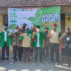 Aksi sosial LPBI NU bareng Ansor Sampung NU bertajuk pengurangan potensi bencana