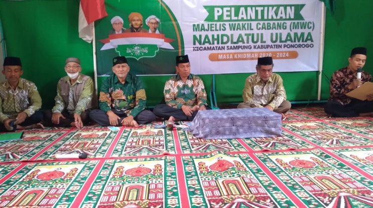 Pengukuhan pengurus MWC NU kecamatan Sampung masa Khidmah 2019-2024