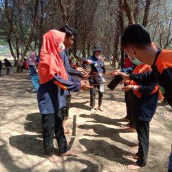 DKAC CBP dan KPP Sampung, ber Halal BI halal yang dikemas outbond di pantai Teleng Ria Pacitan
