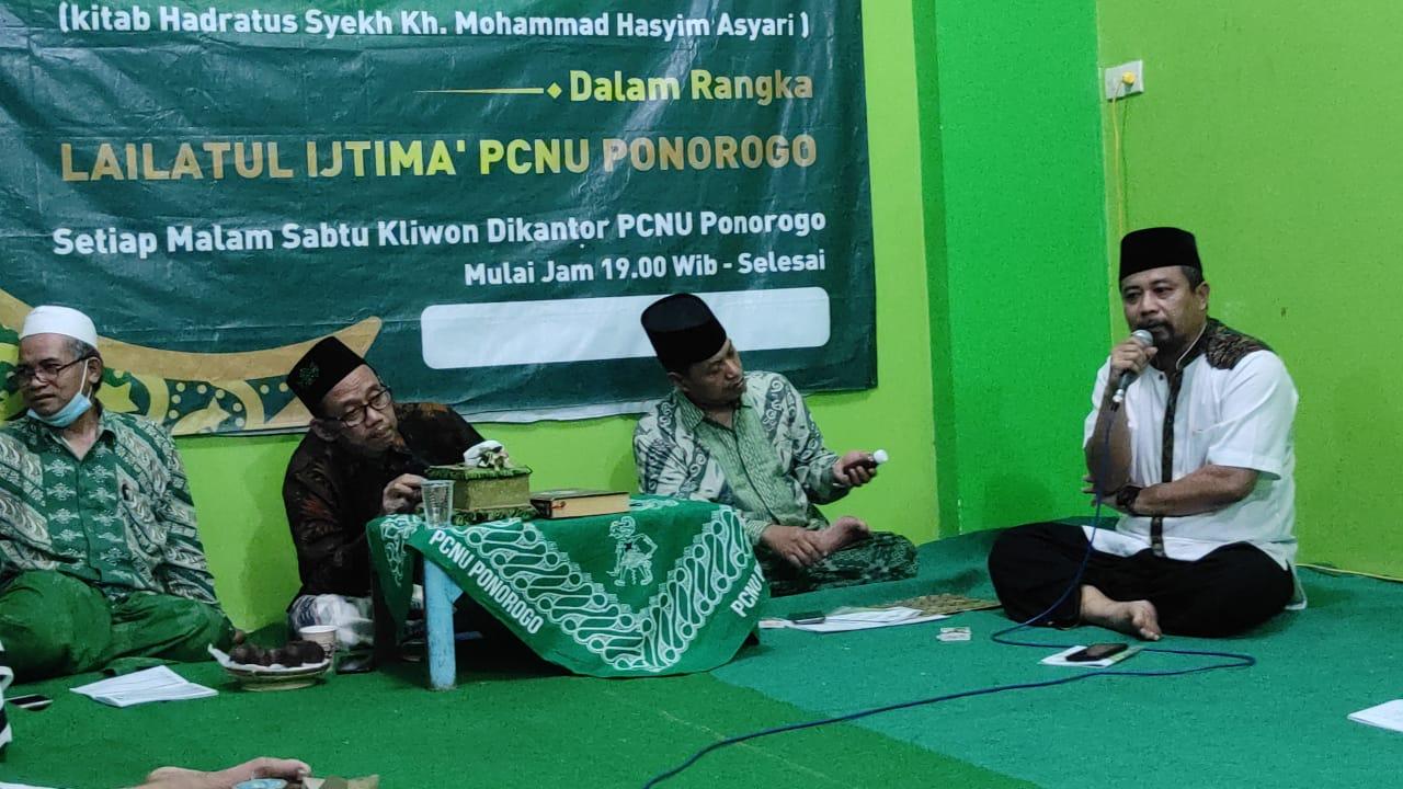 Halal BI halal jajaran pengurus harian Syuriah dan Tanfidziyah serta pimpinan Lembaga dan Banom, dilanjut Rakor