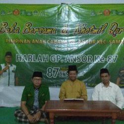 Puncak kegiatan Khotmil Qur'an di kantor MWC NU Sambit.