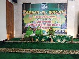 Tiga orang Hafidzah anggota IHM melantunkan ayat-ayat al-Qur'an secara bergantian