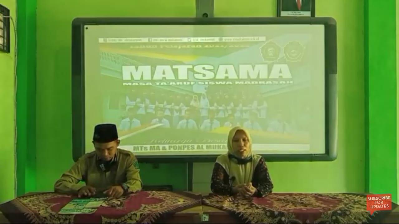 Kepala MA Maarif Al-Mukarrom saat membuka Matsama menegaskan perlunya peneguhan visi madrasah