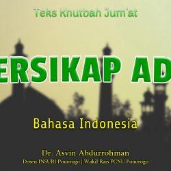 Khutbah Jumat Singkat Terbaru Bahasa Indonesia - BERSIKAP ADIL