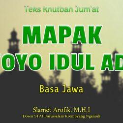 Teks Khutbah Jumat Singkat NU - Mapak Riyoyo Idul Adha - Basa Jawa