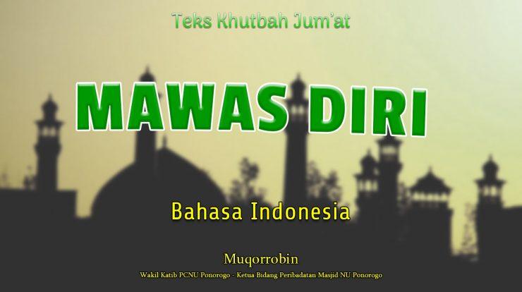 Teks Khutbah Jumat Singkat Bahasa Indonesia - Mawas Diri