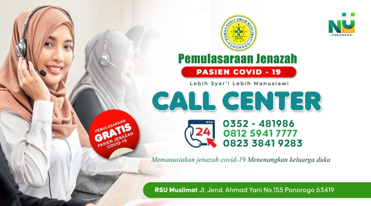Call Center Tim Satgas NU Care - Pasien Covid-19 dari PCNU Ponorogo