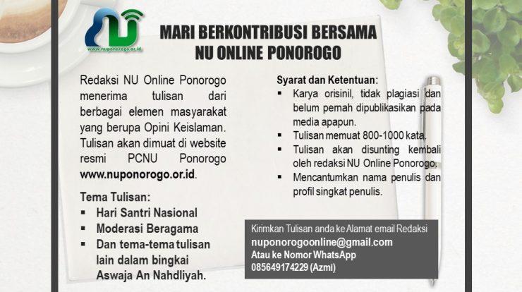 Mari Berkontribusi Bersama NU Online Ponorogo