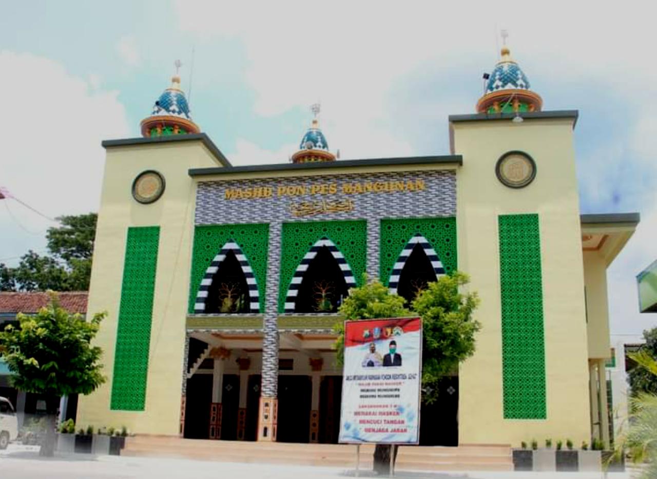 Masjid Al Bukhori, komplek Pondok Pesantren Al Bukhori Mangunan, Desa Tulung, Kecamatan Sampung, Kabupaten Ponorogo