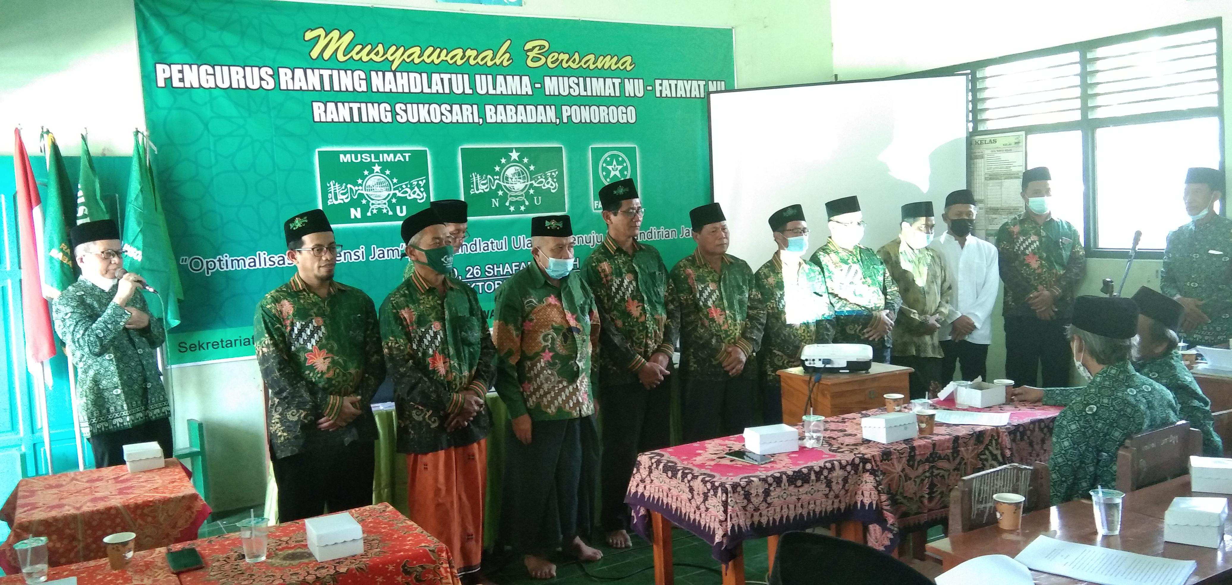 Musyawarah Bersama NU, Muslimat, dan Fatayat Ranting Sukosari, Babadan
